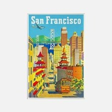 San Francisco Travel Poster 2 Rectangle Magnet