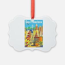 San Francisco Travel Poster 2 Ornament