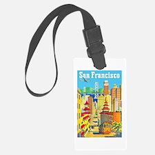 San Francisco Travel Poster 2 Luggage Tag