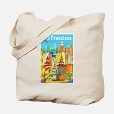 San Francisco Travel Poster 2 Tote Bag