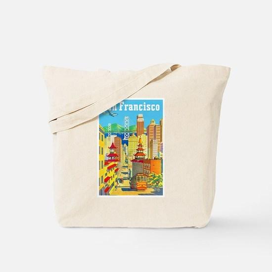 San Francisco Travel Poster 2 Tote Bag
