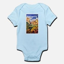 Yosemite Travel Poster 2 Infant Bodysuit