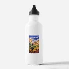 Yosemite Travel Poster 2 Water Bottle