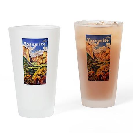 Yosemite Travel Poster 2 Drinking Glass