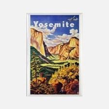 Yosemite Travel Poster 2 Rectangle Magnet