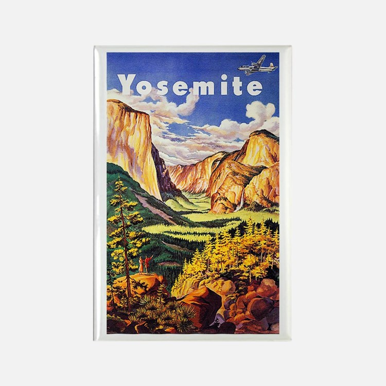 Yosemite Travel Poster 2 Rectangle Magnet