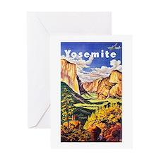 Yosemite Travel Poster 2 Greeting Card