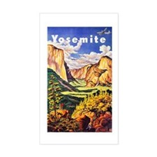 Yosemite Travel Poster 2 Decal