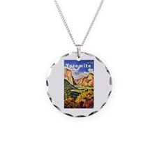 Yosemite Travel Poster 2 Necklace