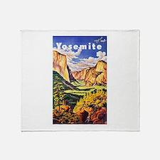Yosemite Travel Poster 2 Throw Blanket