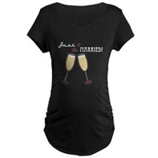 Just Married Champagne Toast T-Shirt