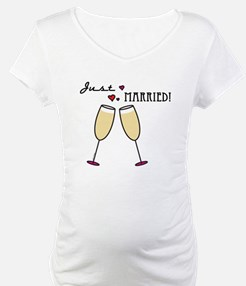 Just Married Champagne Toast Shirt