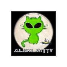 "alien kitty Square Sticker 3"" x 3"""