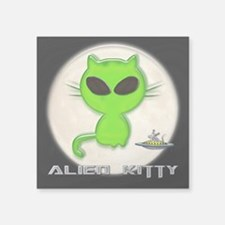 "alien kitty Square Sticker 3"" x 3"""