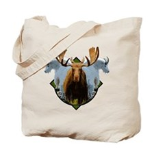 Moose,Mountain goats Tote Bag