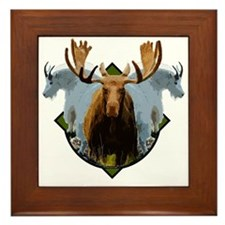 Moose,Mountain goats Framed Tile