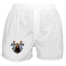 Moose,Mountain goats Boxer Shorts