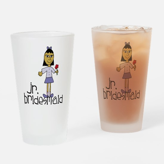 Jr Bridesmaid Purple Drinking Glass