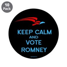 "Keep Calm Vote Romney 3.5"" Button (10 pack)"