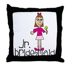 Jr. Bridesmaid (Pink) Throw Pillow