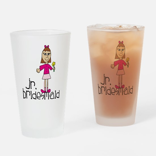 Jr. Bridesmaid (Pink) Drinking Glass