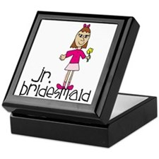 Jr. Bridesmaid (Pink) Keepsake Box