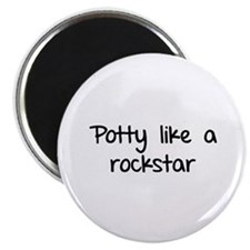 "Potty like a rockstar 2.25"" Magnet (10 pack)"