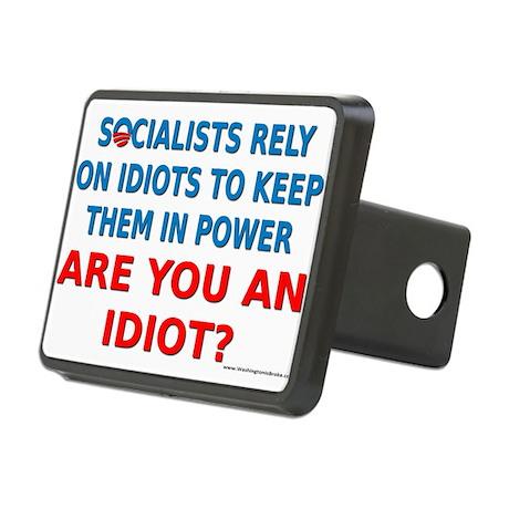 Socialist Idiots Rectangular Hitch Cover