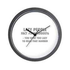 Lazy People Wall Clock