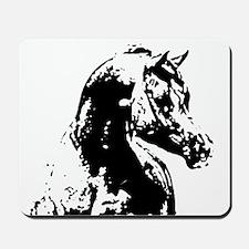 AFTM BW Arabian Horse Head 2 Mousepad