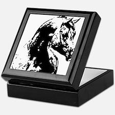 AFTM BW Arabian Horse Head 2 Keepsake Box