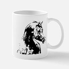 AFTM BW Arabian Horse Head 2 Mug