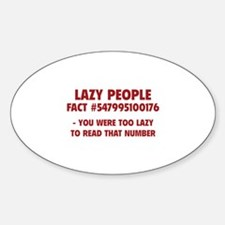 Lazy People Decal
