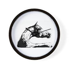 AFTM BW Arabian Horse Head Wall Clock