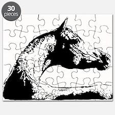 AFTM BW Arabian Horse Head Puzzle