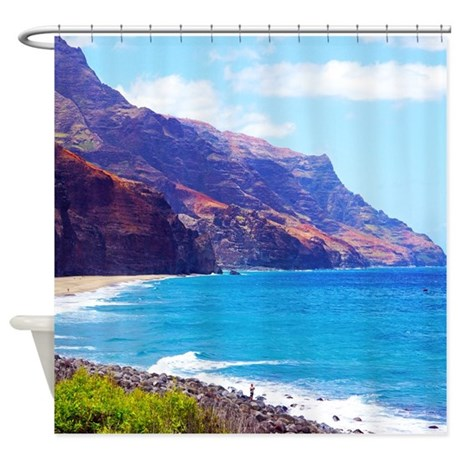 Kalalau Hawaii Tropical Shower Curtain