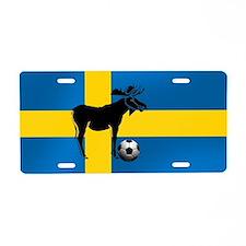 Sweden Soccer Elk Flag Aluminum License Plate