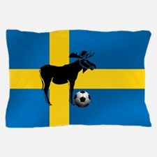 Sweden Soccer Elk Flag Pillow Case