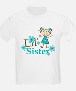 Little Sister Stick Figure T-Shirt