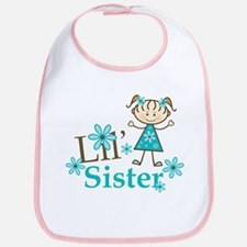 Little Sister Stick Figure Bib