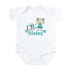 Little Sister Stick Figure Infant Bodysuit