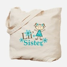 Little Sister Stick Figure Tote Bag