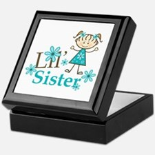 Little Sister Stick Figure Keepsake Box