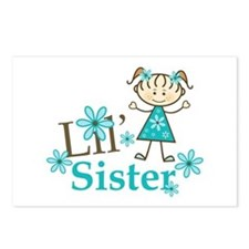 Little Sister Stick Figure Postcards (Package of 8