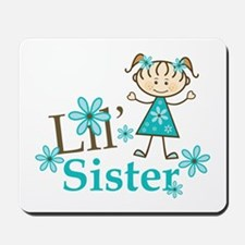 Little Sister Stick Figure Mousepad