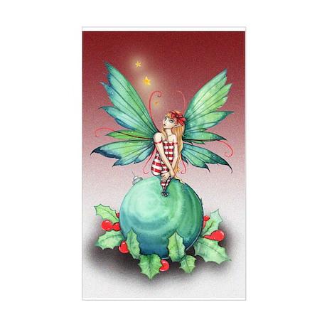 Little Christmas Fairy Sticker (Rectangle)