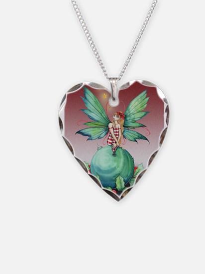 Little Christmas Fairy Necklace Heart Charm