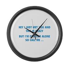 So Call Me ... Large Wall Clock