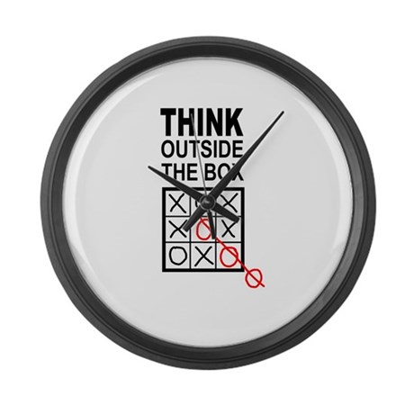 Think Outside the Box Large Wall Clock