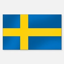 Flag of Sweden Sticker (Rectangle)
